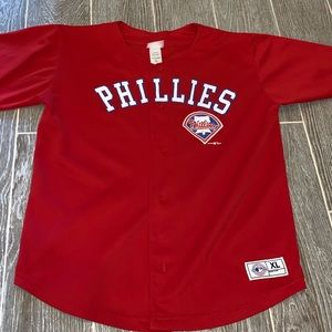 Philadelphia Phillies jersey youth size xl red